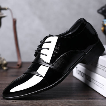 Leather Luxury Fashion Groom Wedding Oxford Shoes