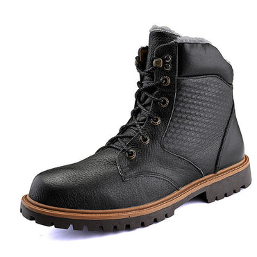 Natural Cow Leather Luxury Rubber High Quality Handmade  Boots