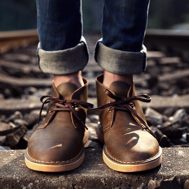 tooling boots retro high shoes desert boots
