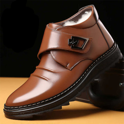 genuine leather wool shoes ankle boots