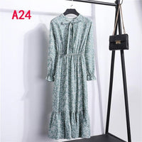 vintage Long Sleeve Office Autumn Winter Dresses