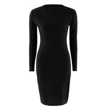 Long Sleeve O-Neck Casual Tight Dress