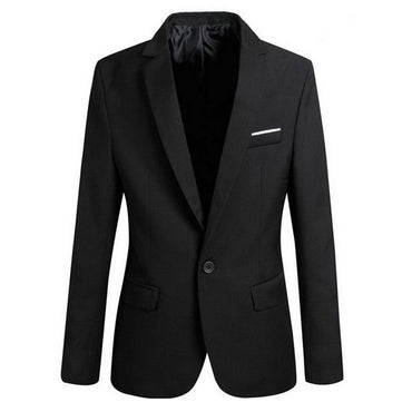 Slim Fit Office Blazer Solid Jackets & Coats