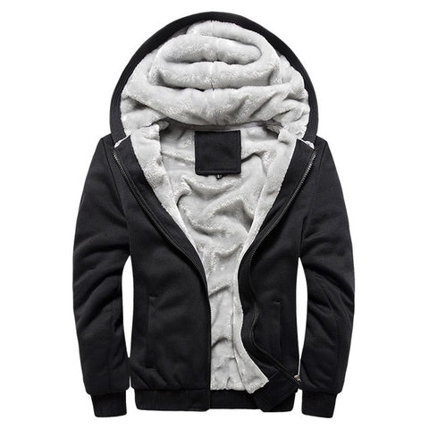 Thick Warm Fleece Zipper hoodies