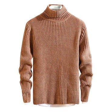 Turtleneck Solid Knitted Sweaters