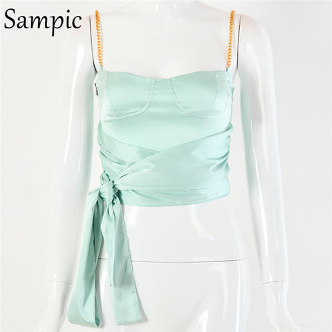 Stain Camis Sexy Casual Spaghetti Strap T-shirt Crop Tops