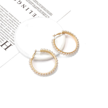 Statement Round Shaped Drop Earrings