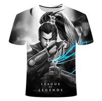 Dark style 3D League of legends T-shirt
