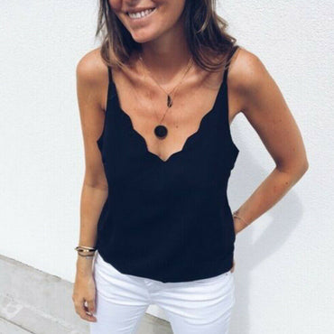 Vest Elegant Sleeveless Tank V Neck Loose top