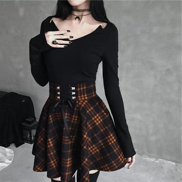 Pleated Plaid Skirts