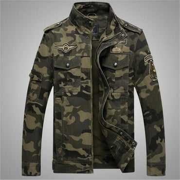 Warm Thick Camouflage Army Windbreaker Jackets & Coats