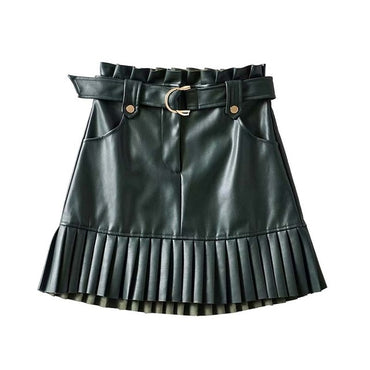 chic PU leather mini skirt