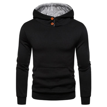 Casual Black Gray Hoodies