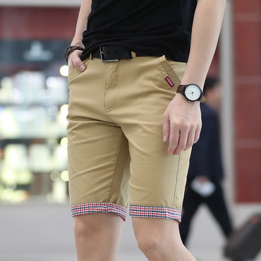 Casual Slim Solid Beach Shorts