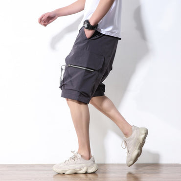 Loose Straight Knee Length Work Shorts