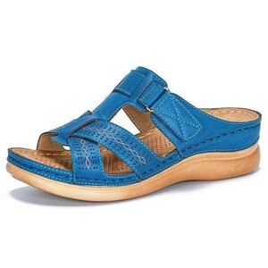 Car Line Wear-resistant Anti-slip Large Size Retro Wedge With Thick Bottom Comfortable Sandals