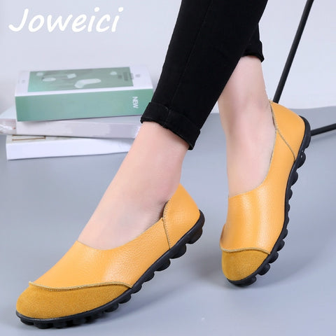 Genuine Leather Moccasins Slip on Nurse Flat Shoes