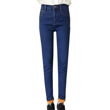 High Waist Casual Velvet Jeans