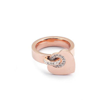 Cubic Zirconia Stainless Steel Rings