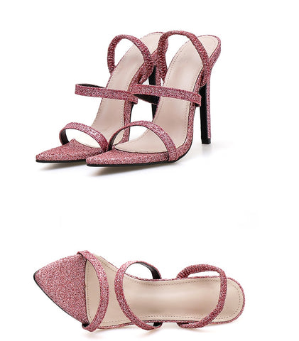 Concise Shallow Open-toed Sandals