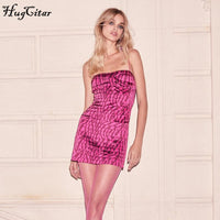Zebra pattern print sleeveless sexy slip mini dress
