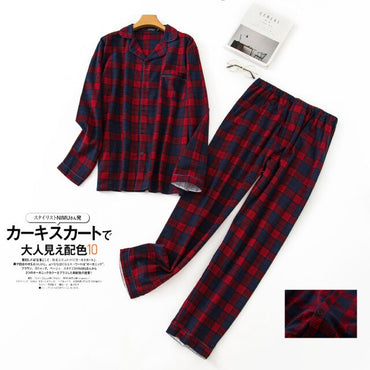 cotton pajamas sets casual sleep Clothing simple sleepwear