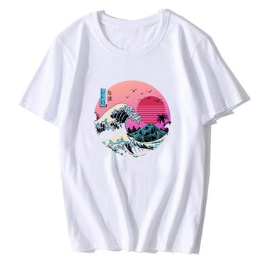 The Great Retro Wave Japan Anime T-shirt