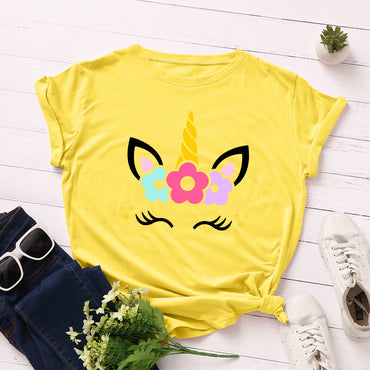 Cotton Tees Cute Unicorn Printed t- Shirt
