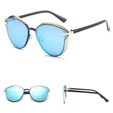 Retro Cat Eye Black Mirror Sunglasses