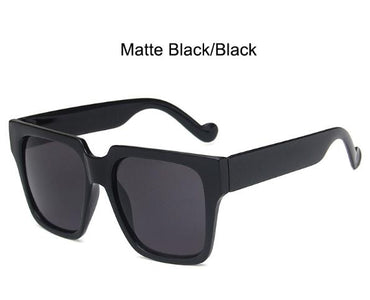 Matte Black Big Square Australia sunnies sunglasses