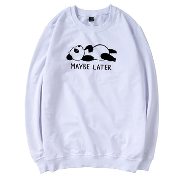 Panda Animal Printed  Cotton Long Sleeve Pullover hoodies