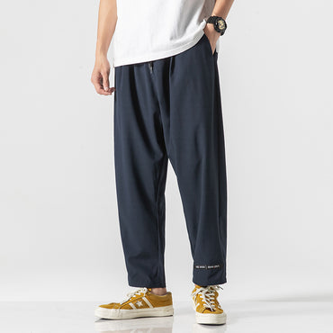 Thin Straight Drawstring Loose  Casual Pants