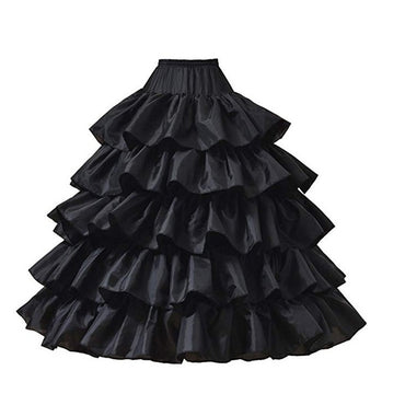 Ruffle Trim Fancy Vintage Dancing Party Long Mopping Skirt