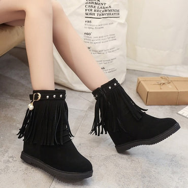 rivet height platform boots