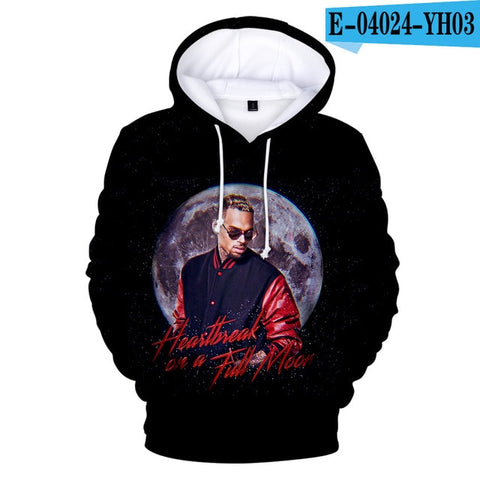 Black 3D Print Sweatshirt Hoodies