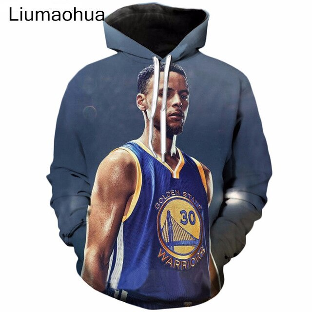 Pullover Star Stephen Curry Print 3D hoodies