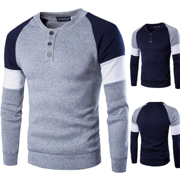 Long Sleeve Tops Cotton Slim Fit Solid Color Slim Fit Casual Sweaters