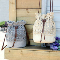Vintage Casual Vacation Handwoven Round Rattan Wicker Straw Woven Tote Papyrus Handbag