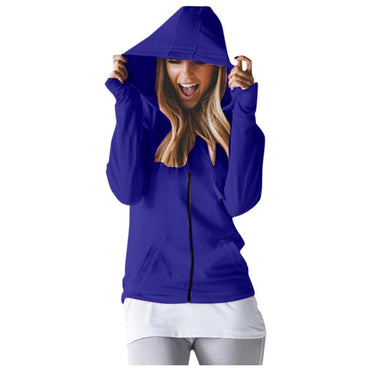 Casual Solid Long Sleeve Top Hoodies