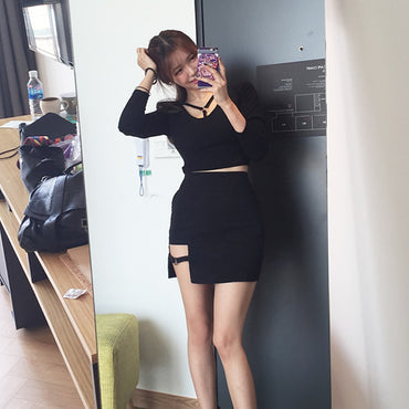 Sexy Irregular High Waist Bandage Skirt