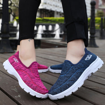 Unisex Sneakers Breathable Mesh Walking Flats Shoes