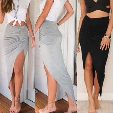 High Split Slim Irregular Skirts