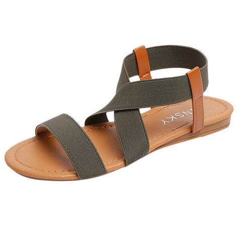Cross Strap  Peep-toe Sandals