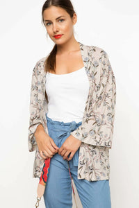 Charming Print Pattern  Jackets & Coats