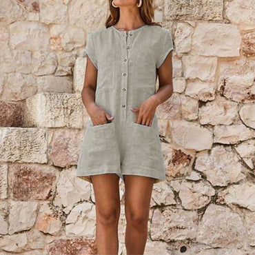 Clubwear Shorts Playsuit Bodycon Dungarees Pocket Party Overalls Wide Leg Romper