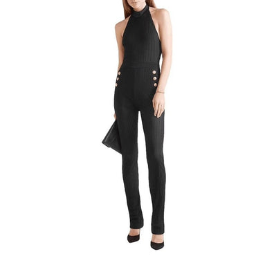Black Sexy Backless Bodycon Jumpsuits