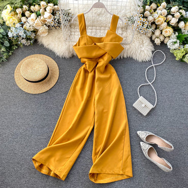 Sexy Knot Jumpsuit Spaghetti Strap Jumpsuits