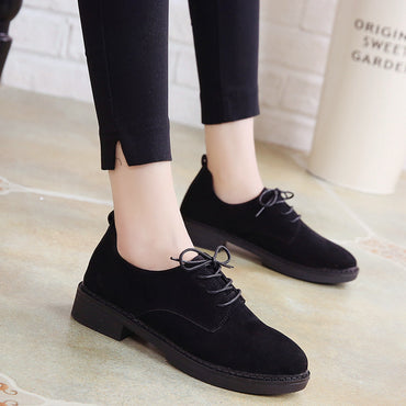 suede flats vintage laces suede loafers casual  Flat Shoes