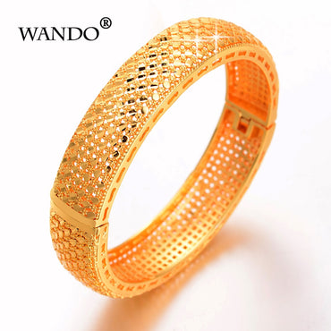 Gold Color Dubai Bride Wedding Gift Bracelets & Bangles