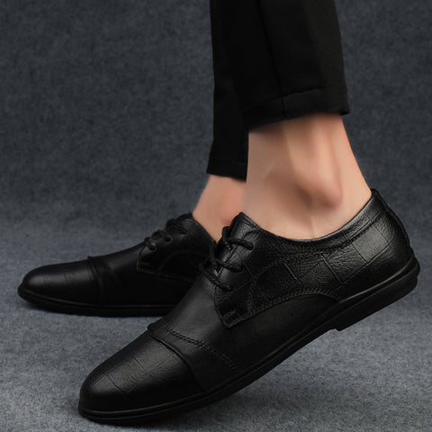 genuine leather formal business dress pointed toe oxfords Shoes